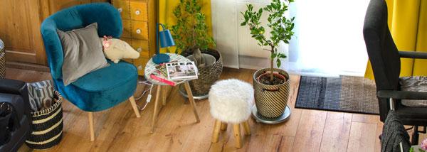 wineo Fußboden Laminatboden Honig Wohnzimmer