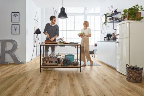 wineo Designboden für die Küche Vinylboden in der Küche #LisbonLoft RLC192W6