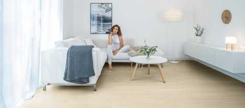 wineo Designboden Fußboden Wohnzimmer