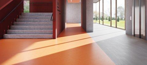 wineo PURLINE Bioboden Empfangshalle Orange