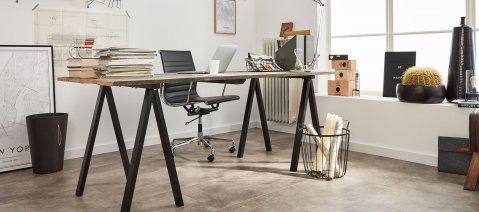 Rigid Vinylboden Loft Büro Industrial Arbeitszimmer Fussboden Betonoptik Fliesenformat