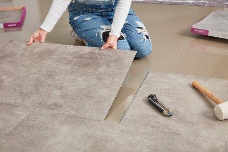 wineo Designboden zum Klicken Verlegung Renovierung DIY Fußboden verlegen