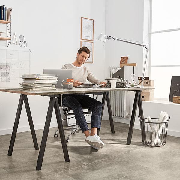 Designboden Stein Bodenbelag Vinyl Modern Industrial Minimalistisch Loft Büro