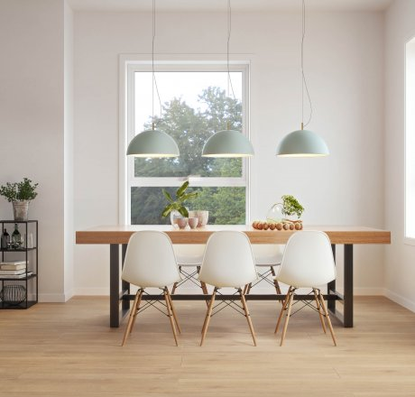 wineo Laminatboden Esszimmer moderne Einrichtung LA181XXLV4 Balanced Oak Brown