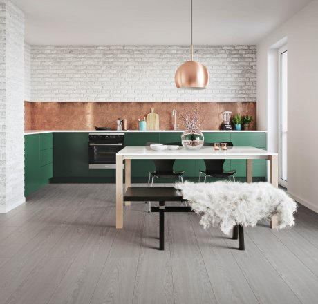 wineo 500 Laminatboden Küche Flowered Oak Grey LA173LV4