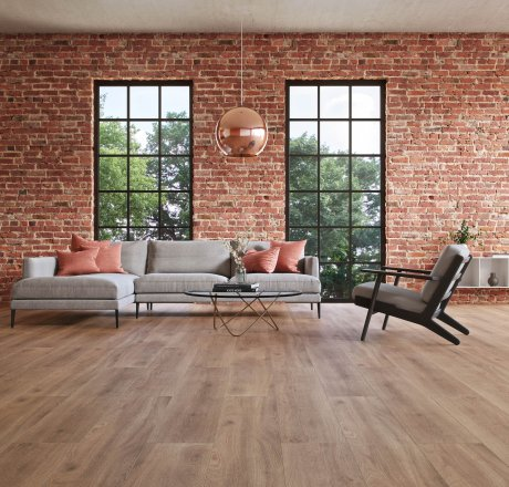 wineo 500 Laminatboden Wohnzimmer Balanced Oak Darkbrown LA182LV4