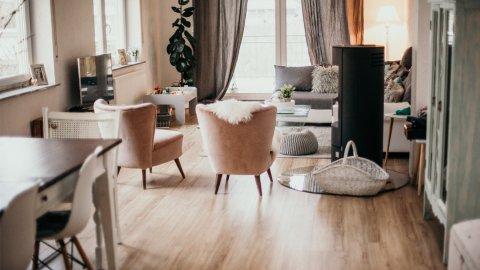 Wohnzimmer Esszimmer Fussboden Bodenbelag Eiche Stustikal Modern