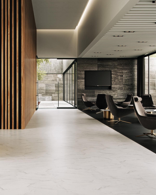 wineo Bodenbelag PURLINE Bioboden Hotellobby modern