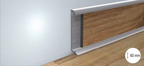 wineo Fußleiste Aluminium Einschub modern Bodenbelag Holzoptik