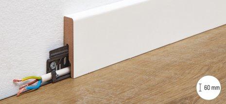 wineo Fußleiste Contrast weiß Anwendungsbild Bodenbelag
