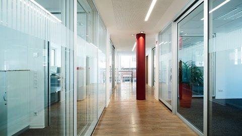 wineo Bodenbelag im Flur Büro moderne Einrichung Holzoptik mittel