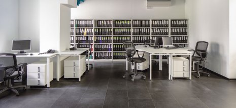 Referenz Objekt Büro Arbeitsplatz Designboden Vinylboden Fliesenoptik