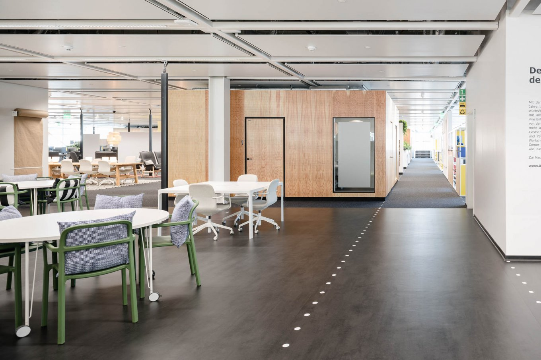 Referenz Objekt Bürogebäude Bodenbelag Fussboden PURLINE Bioboden
