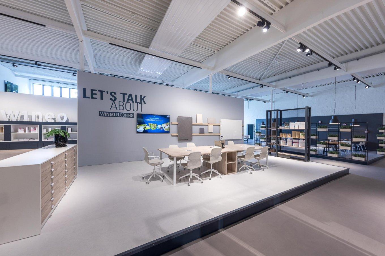 wineo workspace Besprechungsbereich Meetingbereich Architektenbereich Bodenbelag Fußboden PURLINE Bioboden