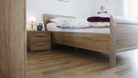 wineo Bodenbelag Schlafzimmer Holzoptik