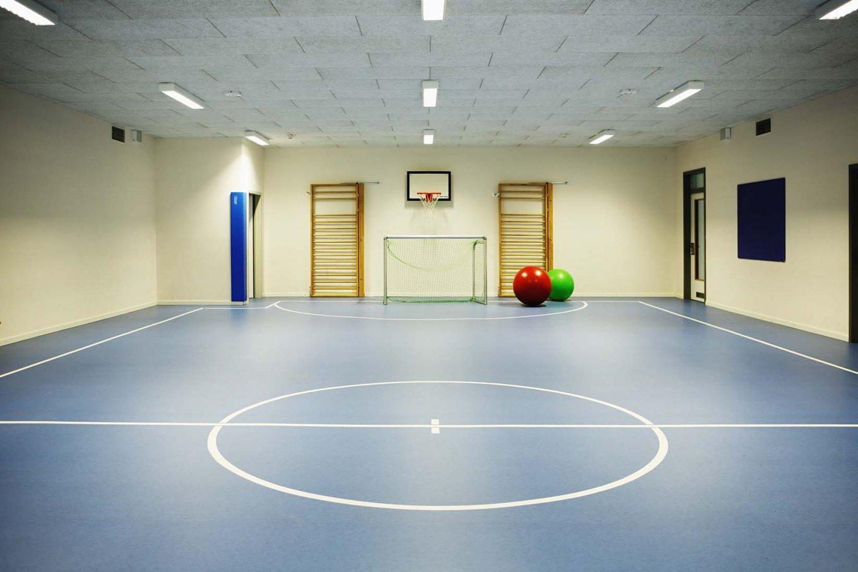 wineo PURLINE Bioboden dunkel Schule Sporthalle moderne Einrichtung