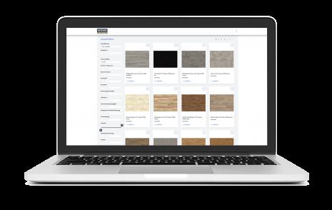 wineo BIM-Daten Laptop Notebook Fußboden Bodenbelag