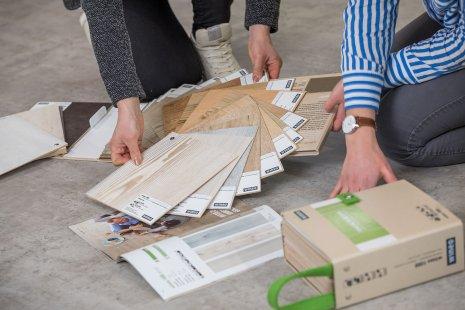 wineo Warenpräsentation Fußboden Bodenbelag Vergleich Drehkollektion