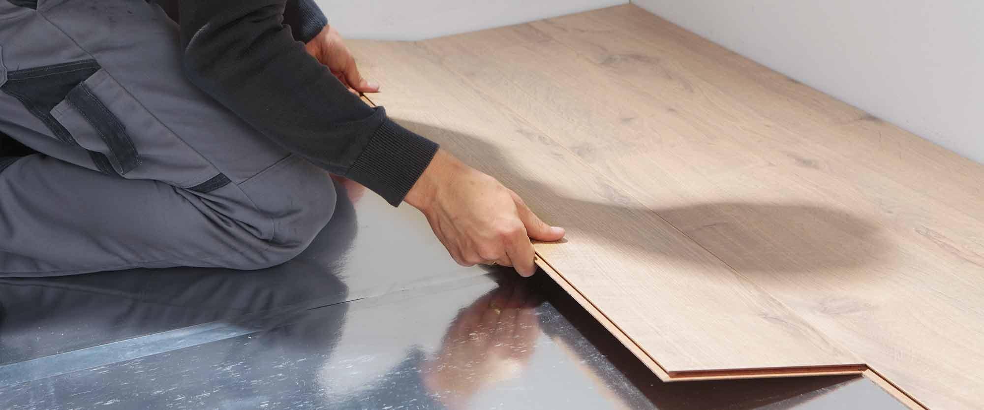 wineo Unterlagsmatte Verlegung DIY Laminatboden Bodenbelag Trittschalldämmung