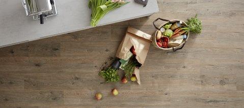 wineo PURLINE Bioboden Küche Einkauf Obst